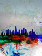 Los Angeles  Watercolor Skyline 1