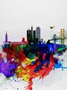 San Francisco Watercolor Skyline 1