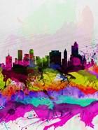 Tulsa Watercolor Skyline