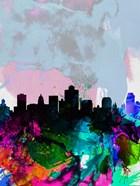 Salt Lake City Watercolor Skyline