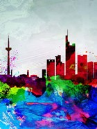 Frankfurt Watercolor Skyline
