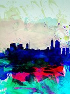 Melbourne Watercolor Skyline 2