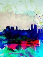 Melbourne Watercolor Skyline 2