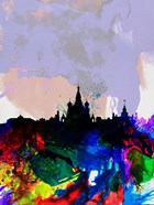 Moscow Watercolor Skyline