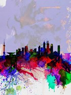 Shanghai Watercolor Skyline
