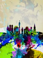 Munich Watercolor Skyline