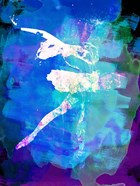White Ballerina Watercolor