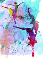 Two Ballerinas Watercolor 4