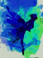 Ballerina on Stage Watercolor 2