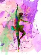 Ballerina Dancing Watercolor 1
