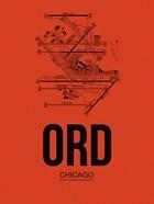 ORD Chicago Airport Orange