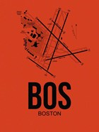 BOS Boston Airport Orange