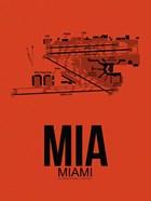 MIA Miami Airport Orange
