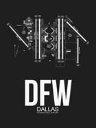 DFW Dallas Airport Black