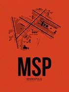MSP Minneapolis Airport Orange