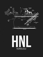 HNL Honolulu Airport Black