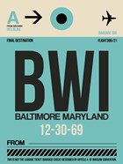 BWI Baltimore Luggage Tag 1