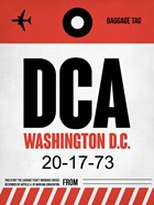 DCA Washington Luggage Tag 1