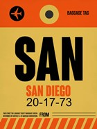 SAN San Diego Luggage Tag 1