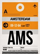 AMS Amsterdam Luggage Tag 2