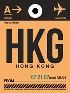 HKG Hog Kong Luggage Tag 2
