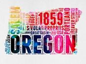 Oregon Watercolor Word Cloud