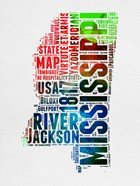 Mississippi Watercolor Word Cloud