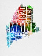 Maine Watercolor Word Cloud