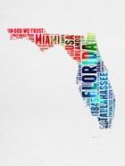 Florida Watercolor Word Cloud