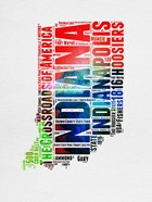 Indiana Watercolor Word Cloud