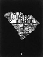 South Carolina Black and White Map