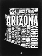 Arizona Black and White Map