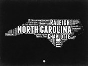 North Carolina Black and White Map