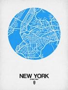 New York Street Map Blue