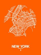New York Street Map Orange