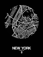 New York Street Map Black