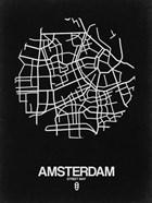 Amsterdam Street Map Black