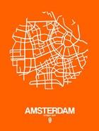 Amsterdam Street Map Orange
