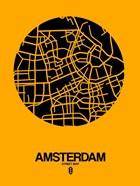 Amsterdam Street Map Yellow