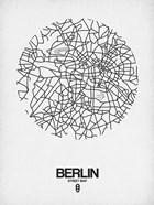 Berlin Street Map White
