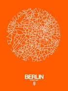 Berlin Street Map Orange