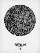 Berlin Street Map Black on White