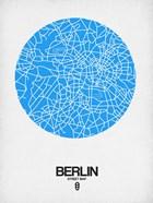 Berlin Street Map Blue