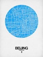 Beijing Street Map Blue