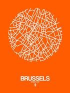 Brussels Street Map Orange