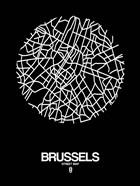 Brussels Street Map Black