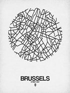 Brussels Street Map White