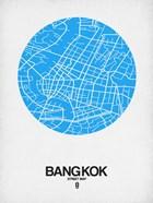 Bangkok Street Map Blue