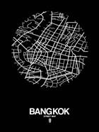 Bangkok Street Map Black