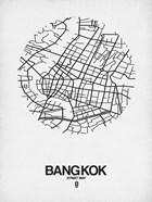 Bangkok Street Map White